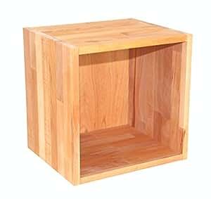 regalw rfel flexicube grundmodul buche ge lt regalw rfel aus massivholz erweiterbar zum regal. Black Bedroom Furniture Sets. Home Design Ideas