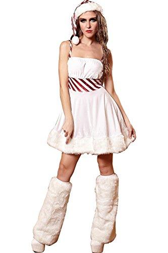 PRIDE S Weihnachten Kostüme Uniformen Halloween Versuchung Set Cosplay Kostüme Spiel Uniformen ( Farbe : Weiß , größe : M ) (Tv Spot Kostüme Halloween)