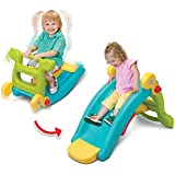 IDEALT Multifunctional Rocking Chair Slide Combination 2 in 1 Toy Colorful Ride-on Rocker Baby Rocking Horse Plastic Slide