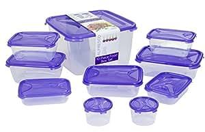 Wham Cuisine 12212(Lot de 10boîtes de conservation en polypropylène 32x 32x 18cm violet