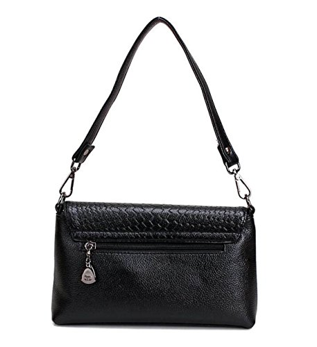 MYLL Fashion Damen Handtasche Schultertasche Messenger Bag Black