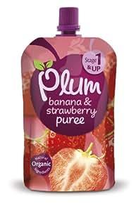 NIL Plum Baby Organic Stage 1 Banana, Strawberry and Raspberry 100 g
