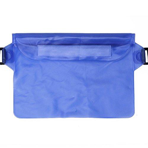 Coolster Sport Schwimmen Laufen Radfahren Strand Wasserdichte Taille Gürtel Tasche Artikel Trockene Halter Strap Beutel Blau