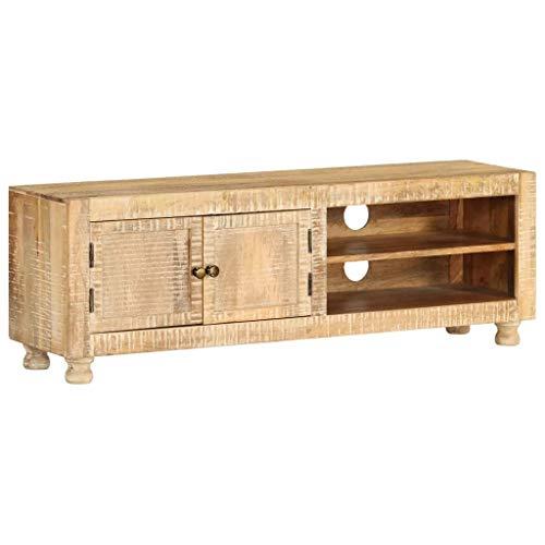 vidaXL Bois de Manguier Massif Meuble TV Armoire Rangement Mobilier Table TV