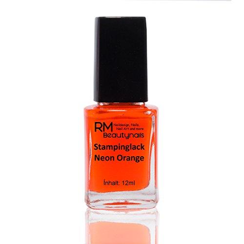 Vernis à ongle RM Beautynails orange 12 ml - Idéal pour l'estampage