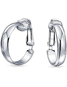 Bling Jewelry 925er Sterling-Silber Ring Ohrclips .75in
