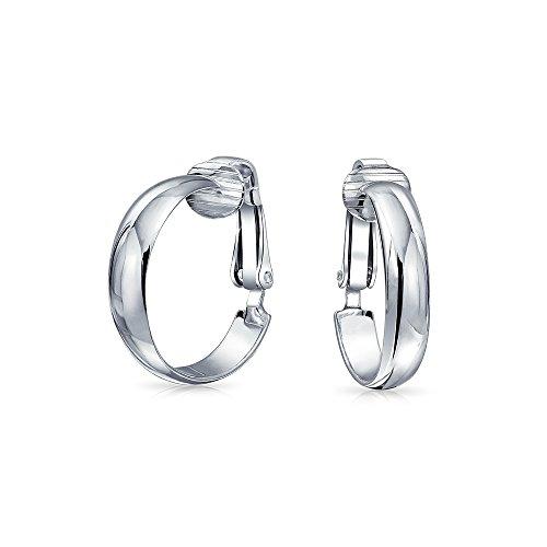 em 925 Sterling Silber Ohrclips Ohrringe Für Damen Messing Clip Nicht Durchstochene Ohren .75 Dia ()