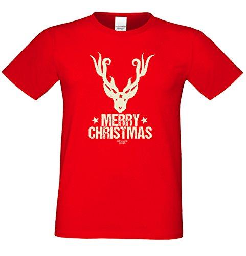 Weihnachten Fun T-Shirt als einzigartiges Weihnachtsgeschenk oder Weihnachts-Markt Advents Outfit Merry Christmas Geschenk Idee mit Spass-Urkunde Farbe: rot Rot