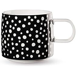 Asa Taza De Navidad, cerámica, Negro/Blanco Con diseño de lunares, 9,5cm
