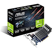 ASUS 710-1-SL GeForce GT 710 1 GB DDR3 Low Profile Graphics Card for Silent HTPC Build, Black