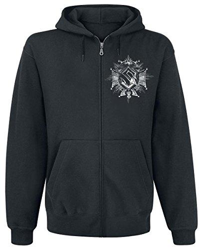 """Sabaton Eagle """"con cappuccio e cerniera, colore: nero nero S"""