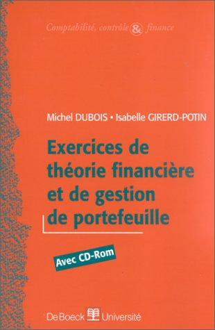 Exercices de théorie financière et gestion de portefeuille