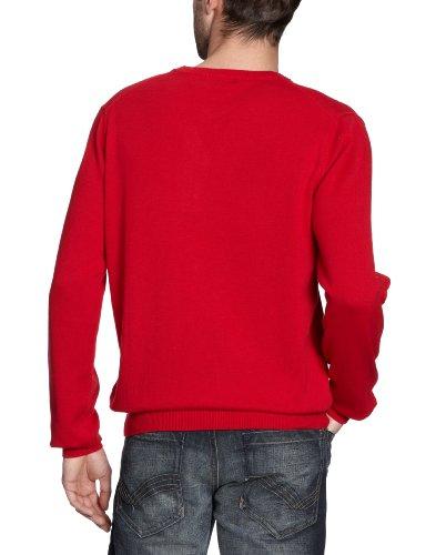 GANT Herren Pullover LT. WEIGHT COTTON V-NECK, Einfarbig Rot (CLASSIC RED