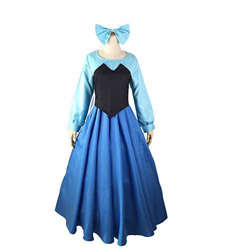 Fanstyle Die kleine Meerjungfrau Kleid Anime Kostüm Weste Bogen Kopfschmuck Cosplay Ariel Prinzessin Kleid 3st ()