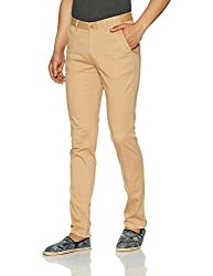 John Players Mens Slim Fit Chinos (8907482016388_JCMWTRF017013001_36W x 36L_Beige)