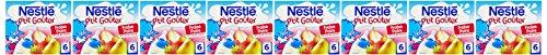 Nestlé Bébé  P'tit Gouter Fraise Poire Lait et Fruits dès 6 mois 2 x 250ml - Lot de 8