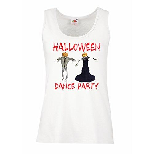 lepni.me Damen Tank-Top Coole Outfits Halloween Tanz Party Veranstaltungen Kostümideen (Small Weiß Mehrfarben)