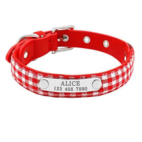 OLDK Bling Hündchen Katze Kragen personalisiert graviert Haustier Hundemarke Halsbänder für kleine Katzen Hunde benutzerdefinierte Strass Halsbänder, 3, M -