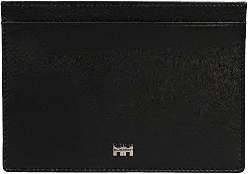 ELBLEDER flache Brieftasche Leder schwarz für Reisepass mh-07