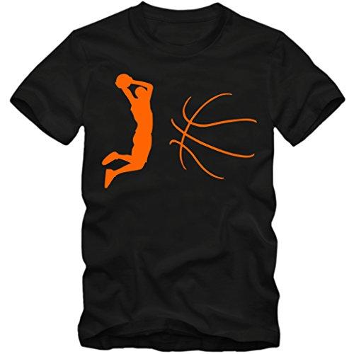 Basketball Premium-Herrenshirt |NBA | BBL |Streetball | Sportshirt © Shirt Happenz Schwarz (Deep Black L190)