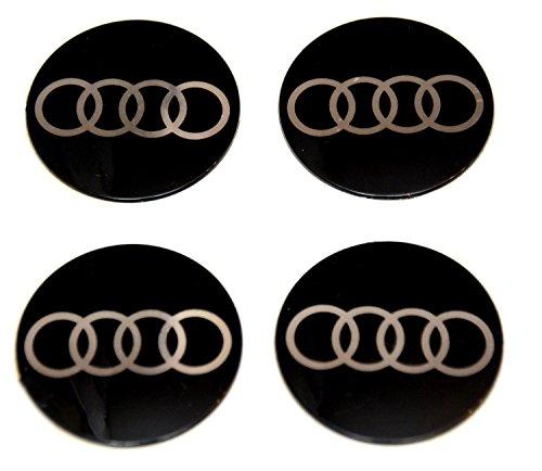 4x 70 mm Diameter Ersatzartikel Set AUDI Wheel Centre Caps Sticker Self Adhesive Emblem Decals Cheap Aufkleber Emblem für Felgen Nabendeckel Radkappen