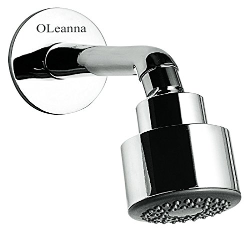 Oleanna OHS-17 Overhead Shower with Shower Arm and Wall Flange (Shower) with Chrome Finish