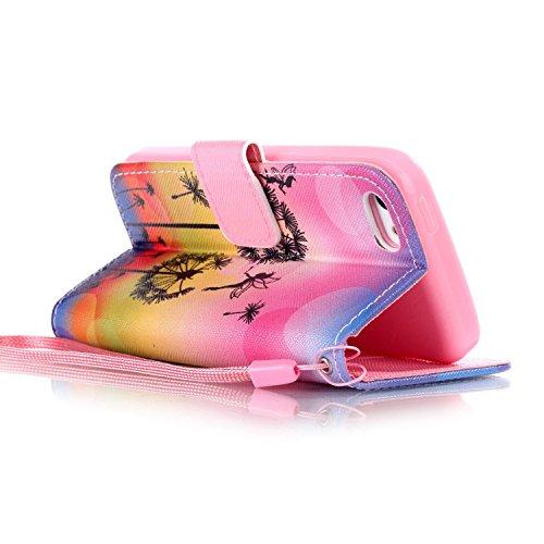 MOONCASE Étui pour iPhone 5C Printing Series Coque en Cuir Portefeuille Housse de Protection à rabat Case YB09 A07 #1117