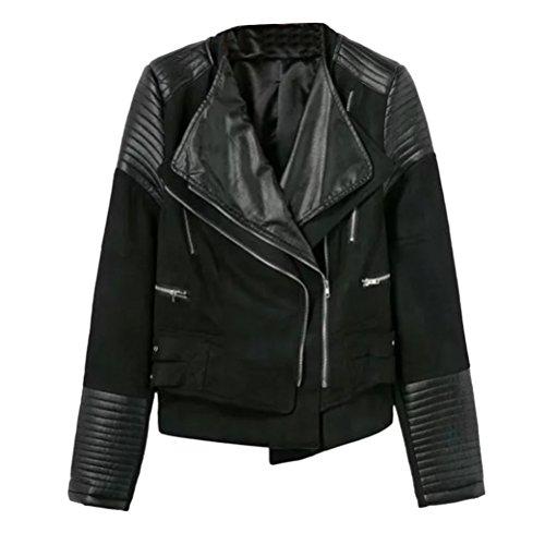 Zhhlaixing Multiple Colour Lapel Zipper Casual Jacket Ladies Lab Coat PU Lederjacken für Damen Winter Sale