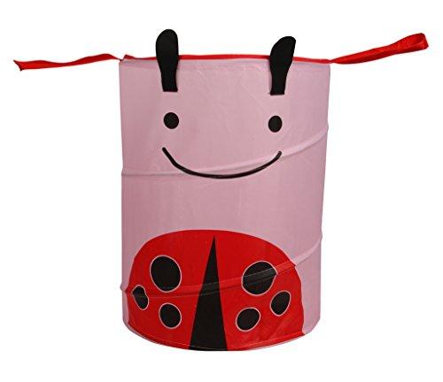 Offspring of167-5 Pop Up Toy Sack Cum Laundry Basket, Pink