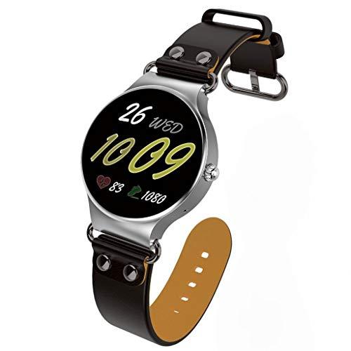 UTHDELD Smartwatch 3G SmartWatch Phone Android 5.1 1,39 Pulgadas MTK6580 8GB ROM GPS Podómetro del Ritmo cardíaco Reloj Inteligente KingWear, Plateado y marrón