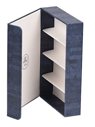 Brillenbox Mehrbrillenetui Brillenetui für bis zu 4 Brillen Quartett Cork (blau) Größe 246x175x51mm robust & edel