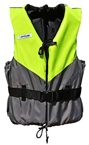 Navyline 50N Schwimmhilfe Weste Damen Herren, Größe:70-90kg, Farbe:gelb/grau