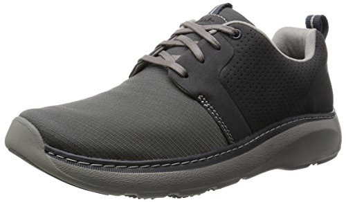 Clarks Charton Style, Derby homme Gris (Grey Fabric)