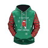 WEII Mode Mit Kapuze Pullover Weihnachten Paar Modelle Pullover Sport und Freizeit Mit Kapuze Drucken Pullover -