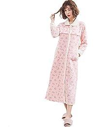 fb14000a0 XFentech Mujer Cálido Largo Camisón Lactancia - Prenatal Posparto  Amamantamiento Vestido Algodón Pijamas