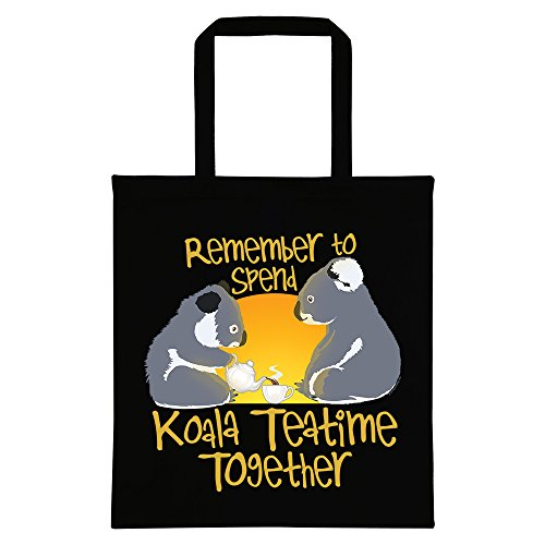 RealSlickTees Koala Teatime Tote Bag