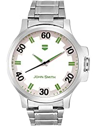 John Smith White & Green Dial Metal Belt Analog Watch For Men - JS-10101GREEN_N
