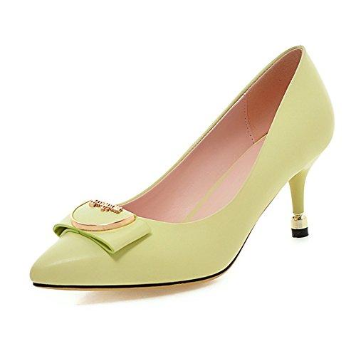 tacco/Talloni aguzzi/ carattere scarpe/Tacco fibbia di colore puro lato fine-A Longitud del pie=22.3CM(8.8Inch)