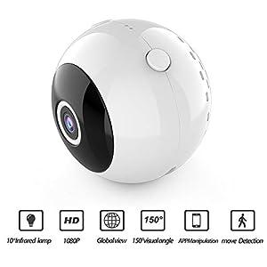 venta camaras espias inalambricas baratas: AWIS Mini Cámaras,1080p HD Cámara de Video del Globo Ocular,Cámara de Vigilancia...