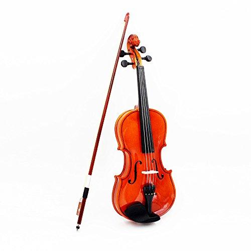 Andoer® Violino E Arco Su Piume con Pentagramma con Funi Di Acciaio Tilo Arbor Bow Di Corde Strumento Musicale Per Bambini E I Principianti 1/2