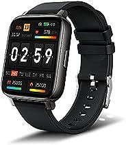 Smartwatch, 1,69'' Touch Schermo Fitness Tracker con Supporto di Ricarica, Orologio Smartwatch Uomo Do