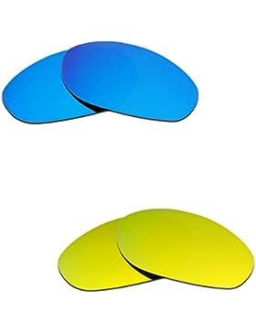173a896584b3b Hkuco Plus Mens Replacement Lenses For Oakley Monster Dog Blue 24K Gold  Sunglasses