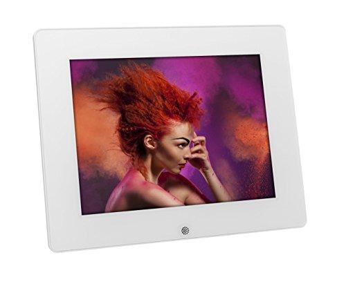 Rollei Pissarro DPF-80 digitaler HD Bilderrahmen mit Fernbedienung, 8 Zoll - 1024 x 768 - Weiß