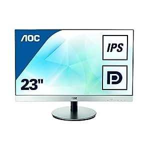 AOC I2369VM 58,4 cm (23 Zoll) Monitor (VGA, HDMI, 5ms Reaktionszeit, Displayport, 1920x1080, 60 Hz) schwarz-silber