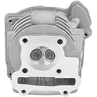 KIMISS Ensamblaje de la Cabeza del Cilindro del Motor, 47mm Culata del Motor con válvula para GY6 72cc 80cc 4 Tiempos 139QMB / 139QMA