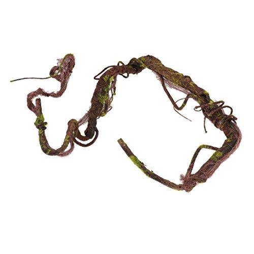 SunniMix Rattan Dschungel Reben Natürliche Terrarium Dekoration Für Eidechse, Chamäleons, Baumfrösche, Geckos, Schildkröten, Schlangen Usw. - L