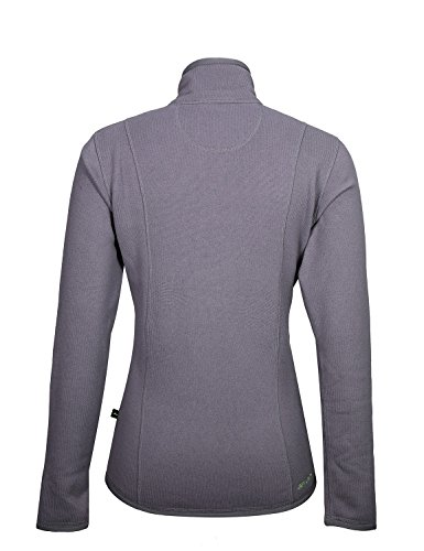 Jeff Green Damen Midlayer Schnelltrocknende Strick Fleece Jacke Inca Grey