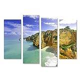 Bild Bilder auf Leinwand Idyllische Strandlandschaft in