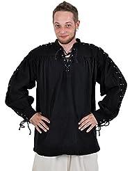 Jeu de rôle GN - Chemise Médiévale - Bregon - Noir