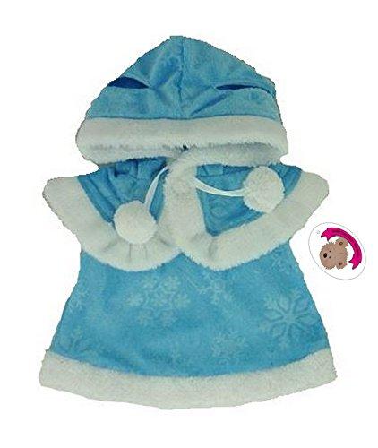 Build your Bears Wardrobe Kleidung für Teddybären, 38,1cm, Kleid und Cape, Blau